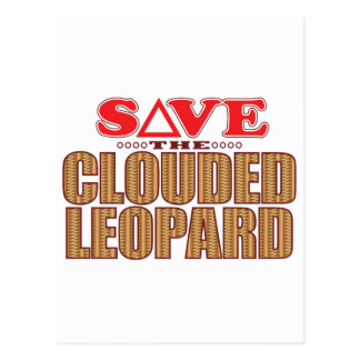 Clouded Leopard Save Postcard