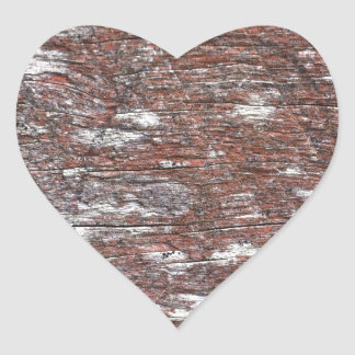 Clouded Red Gum Wood -- fluffy white clouds. Heart Sticker