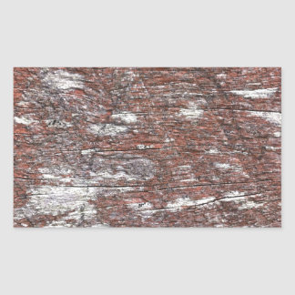 Clouded Red Gum Wood -- fluffy white clouds. Rectangular Sticker