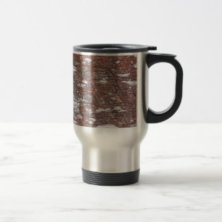 Clouded Red Gum Wood -- fluffy white clouds. Travel Mug