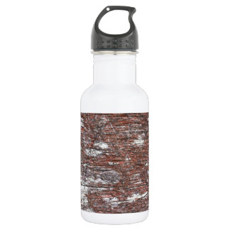 Clouded Red Gum Wood -- fluffy white clouds. Water Bottle
