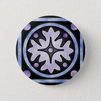 Clouded Stained Glass Button