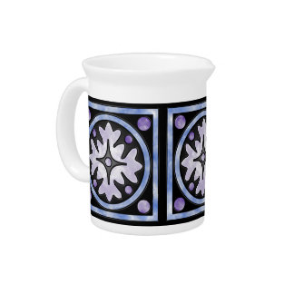 Clouded Stained Glass Pitchers
