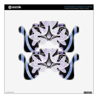 Clouded Stained Glass PS3 Controller Skin