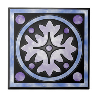 Clouded Stained Glass Tile