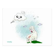 Cloudly   kawaii humor postcard