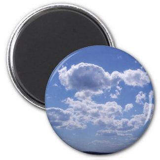 clouds 2 inch round magnet