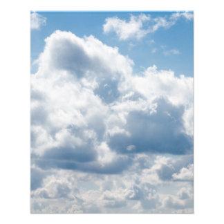clouds-388922 BEAUTIFUL SKY NATURE BLUE WHITE CLOU Flyer