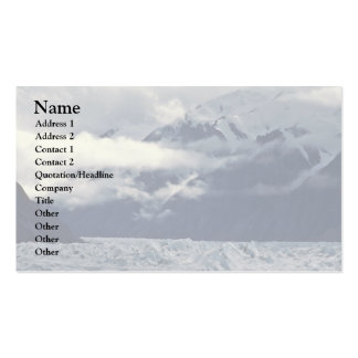 Clouds Above A Glacier Business Card