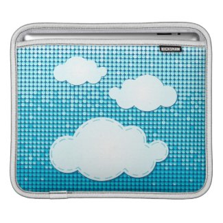 Clouds abstract background, iPad sleeve