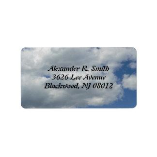 Clouds Address Label