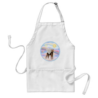 Clouds - Airedale Angel (standing) Adult Apron