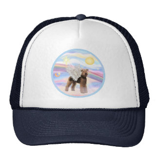 Clouds - Airedale Angel (standing) Trucker Hat