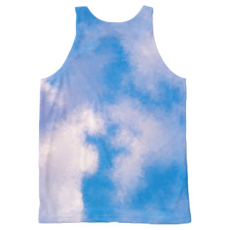 Clouds All-Over Printed Unisex Tank