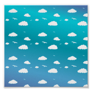 Clouds and Birds Posters