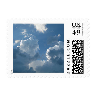 Clouds And Blue Skies Small Postage Stamps