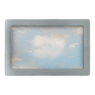 Clouds and Blue Sky Rectangular Belt Buckle