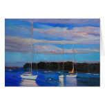 Clouds and Boats at Sunset Greeting Cards