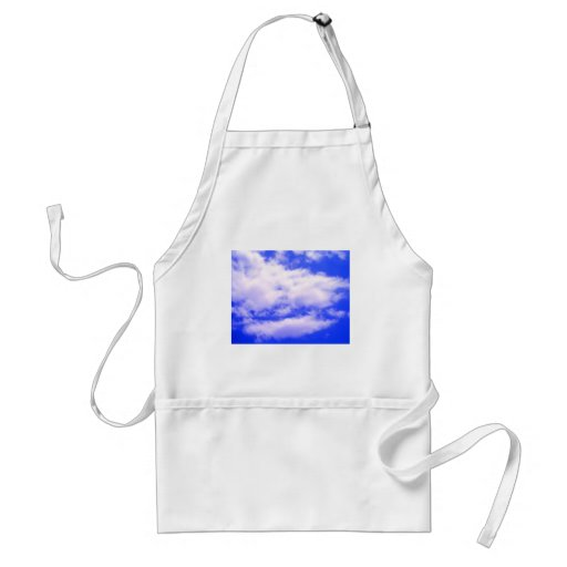 Clouds and Clear Blue Sky Adult Apron