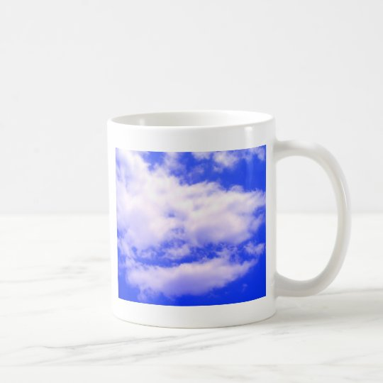 Clouds and Clear Blue Sky Coffee Mug