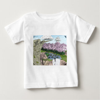 """""""Clouds and Cliffs"""" Baby T-Shirt"""