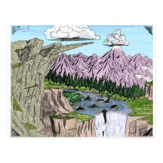 """Clouds and Cliffs"" Postcard"