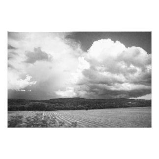 Clouds and Fields Vermont black and white 32x48 Photo Print