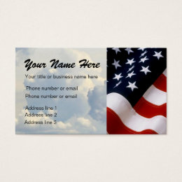 CLOUDS AND FLAG BUSINESS CARD