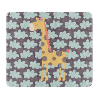 Clouds and Giraffes Cutting Board