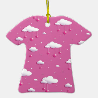 Clouds and hearts ceramic T-Shirt decoration