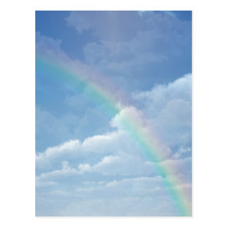 Clouds and Rainbow Post Card
