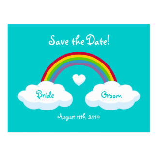 Clouds And Rainbow - Save the Date card