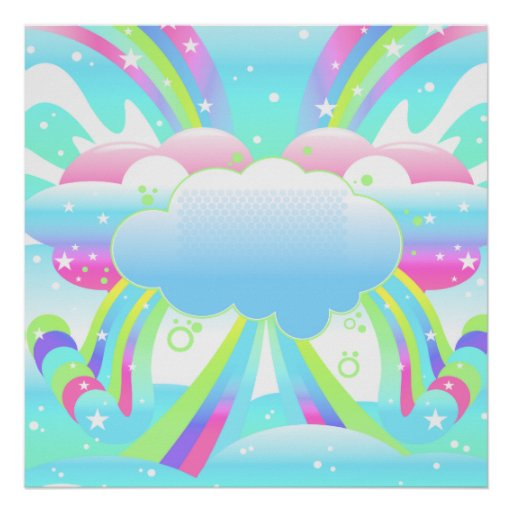 clouds and rainbow sky II Poster