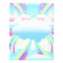 vector, abstract, funky, cool, awesome, clouds, rainbow, sky, skies, girly, pop, retro, vivid, pretty, teens, school, photo, planner, dooni designs, art, artsy, personalize, customize, cute, digital art, Papel de cartas com design gráfico personalizado