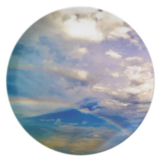 Clouds and Rainbows Plates