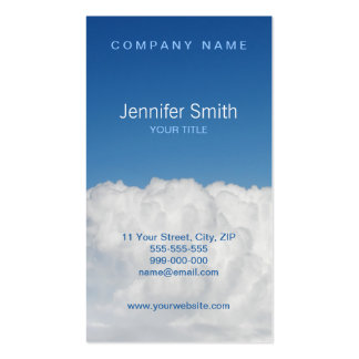 Clouds And Sky business card
