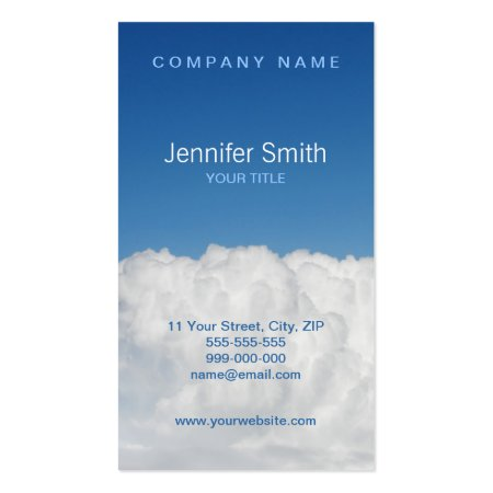 Above the Clouds Blue Sky Business Cards
