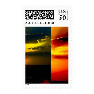 Clouds and Sky Pop Art Postage
