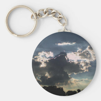 Clouds and  Sun Keychain