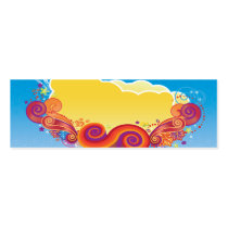 digital art, clouds, sky, skies, abstract, cool, dooni designs, colorful, modern, nature, orange, red, blue, stylized, Business Card with custom graphic design