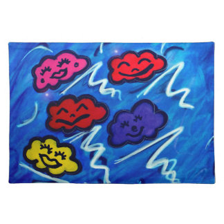 """""""Clouds and the thunder rolling all night long..."""" Cloth Placemat"""