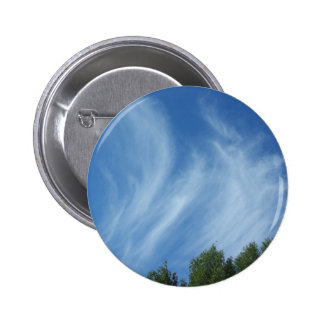 Clouds and trees 2 inch round button