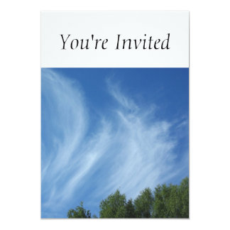Clouds and trees 5x7 paper invitation card