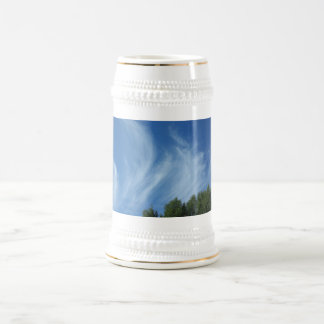 Clouds and trees beer stein