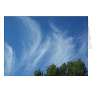 Clouds and trees greeting card