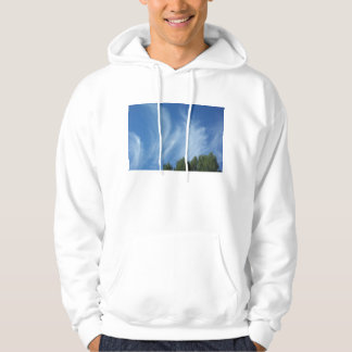 Clouds and trees hoodie