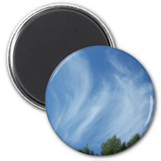 Clouds and trees magnet