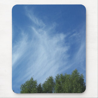 Clouds and trees mouse pad