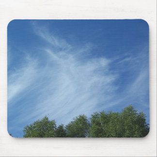 Clouds and trees mousepads