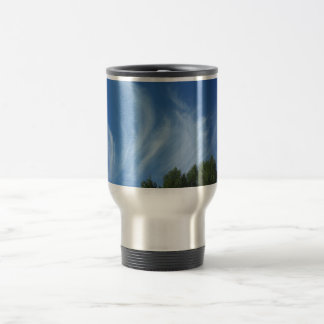 Clouds and trees 15 oz stainless steel travel mug